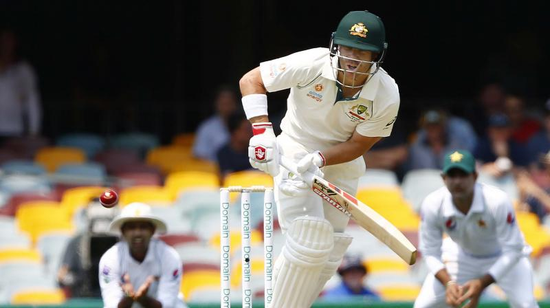 Openers David Warner and Joe Burns dominated the Pakistan attack despite a fiery debut from 16-year-old Naseem Shah to put Australia in a strong position at lunch on the second day in the first cricket Test on Friday. (Photo:AP)