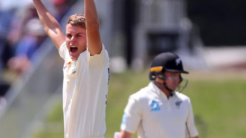 New Zealand were ruing their failure to contest a leg before wicket decision against Tom Latham as the opener went cheaply in the first Test against England at Mount Maunganui on Friday. (Photo:AFP)