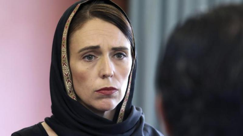 New Zealand Prime Minister Jacinda Ardern led an estimated 5,000 people standing quietly at Hagley Park in front of the Al Noor mosque, where most of the victims died.  (Photo:AP)