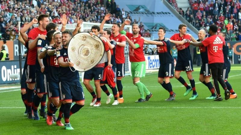 Bayern seal Bundesliga title at Augsburg