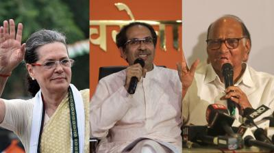 The talks of a pact escalated after Congress president Sonia Gandhi gave nod to stitch an alliance with the ideologically different Sena. (Photo: File)
