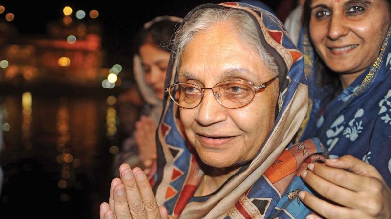 Former Delhi chief minister Sheila Dikshit.  (AFP)