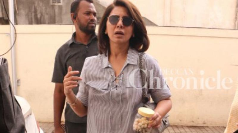 Neetu Kapoor spotted at the same time as Salman Khan's 'Race 3' trailer launch.