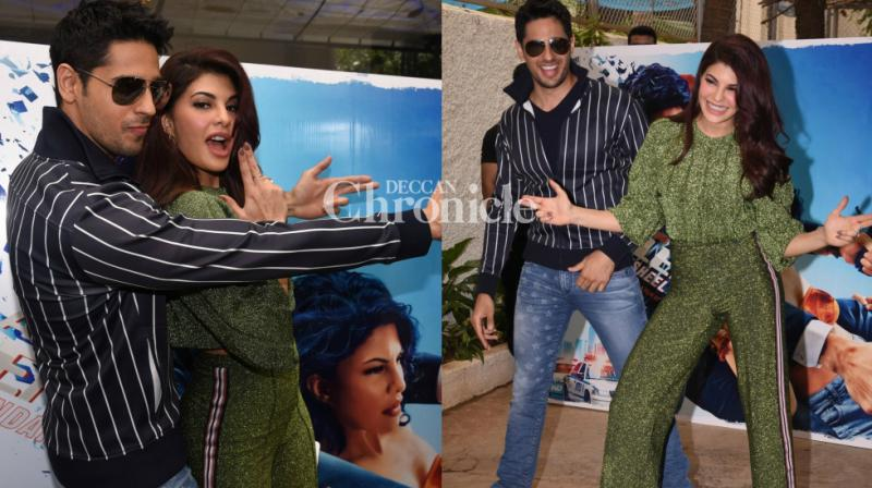 Sidharth Malhotra, Jacqueline Fernandez and the team of their film 'A Gentleman' held a special preview of the trailer of their film in Mumbai on Friday. (Photo: Viral Bhayani)