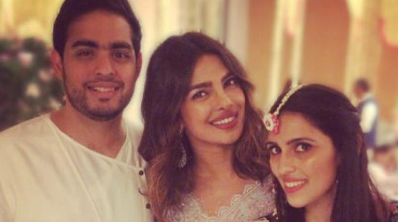 Actress brings along her boyfriend to Akash Ambani's pre-engagement bash
