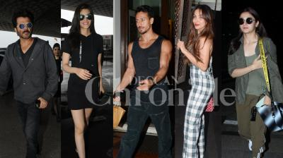 Bollywood stars Anil Kapoor, Alia Bhatt, Tiger Shroff, Malaika Arora, Kriti Sanon and others were snapped in the city. Checkout exclusive pictures of your favourite B-town celebs right here. (Photos: Viral Bhayani)