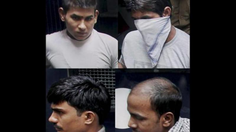 Pawan Kumar Gupta, Vinay Sharma, Mukesh and Akshay Kumar Singh - the four convicts in the case. (Photo: PTI)