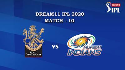 RCB VS MI Match 10, DREAM11 IPL 2020, T-20 Match