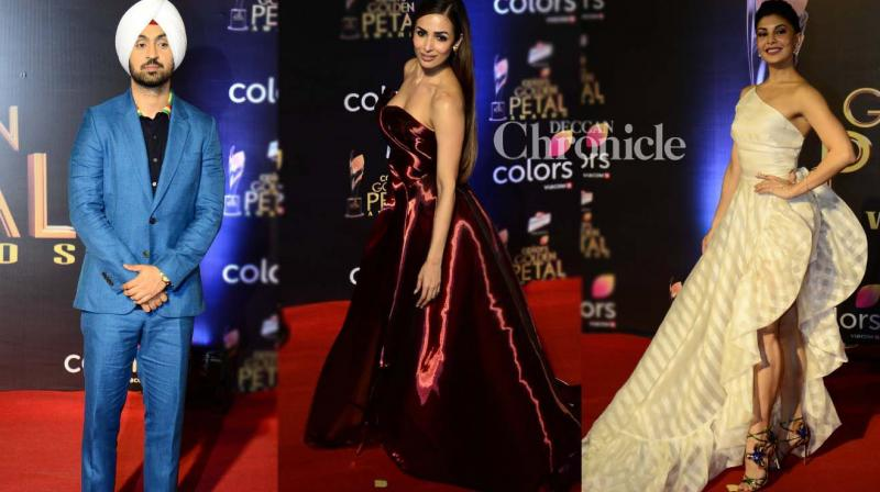 Several B-Town stars were also present at the Colors Golden Petal Awards held in Mumbai on Wednesday. (Photo: Viral Bhayani)