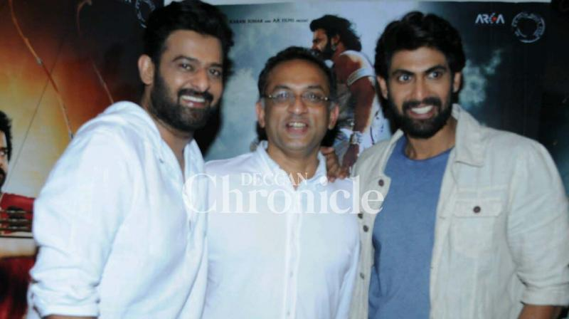 The team of 'Baahubali: The Conclusion' promoted the much anticipated film in Mumbai on Wednesday. (Photo: Viral Bhayani)