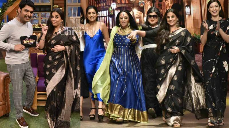 Vidya Balan and the team of her film 'Begum Jaan' shot for an episode of Kapil Sharma's show on Tuesday. (Photo: Viral Bhayani)