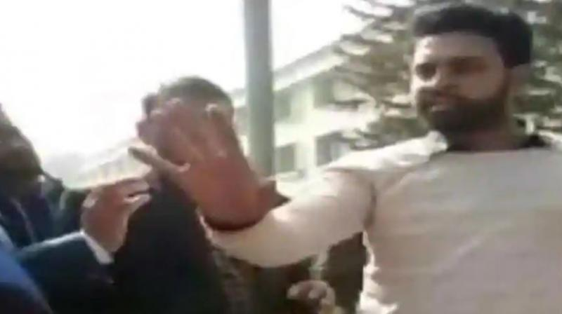An FIR has been registered against NSUI Shahjahanpur district president Irfan Hussain for allegedly threatening a female student after she complained of molestation.(Photo: Video Screengrab)