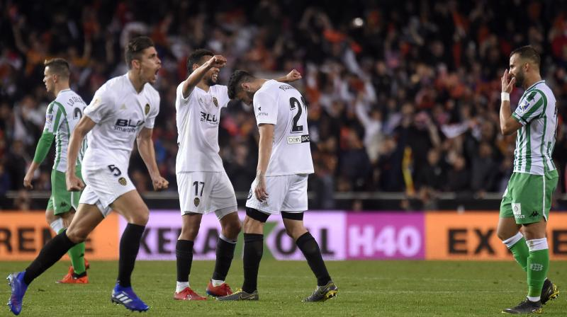 Marcelino's Valencia struck first in the 56th minute as Kevin Gameiro teed up Rodrigo to lash in his fourth Copa goal of the campaign after his stunning quarter-final hat-trick against Getafe. (Photo: AFP)