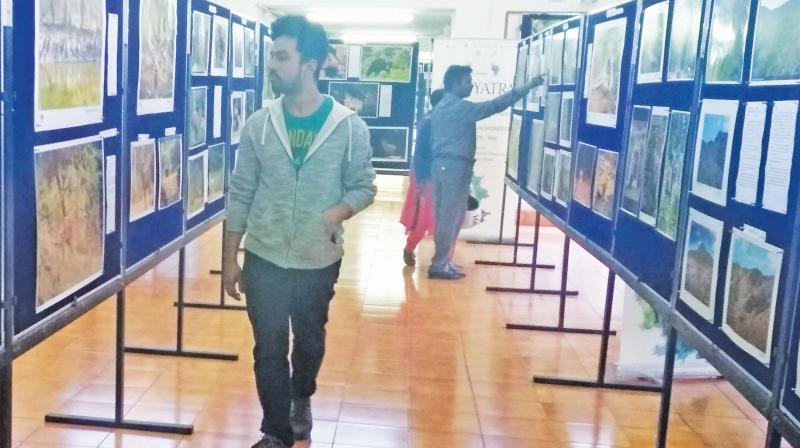 Photography exhibition on Nilgiris, as part of summer festival, is underway at Horticulture Complex in Ooty. (Photo: DC)