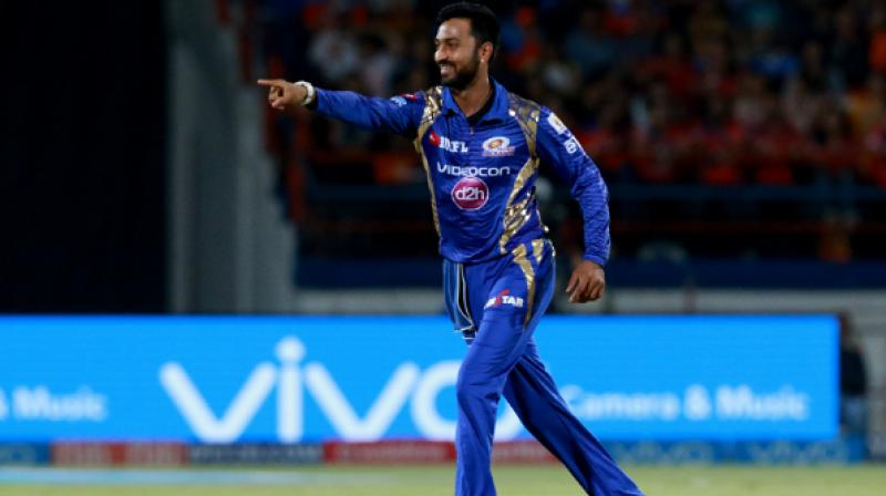 Krunal Pandya on Saturday became the costliest uncapped buy in IPL history, going for a whopping Rs 8.8 crore to Mumbai Indians as rookie players, both Indian and overseas, turned overnight millionaires in the auction here.(Photo: BCCI)