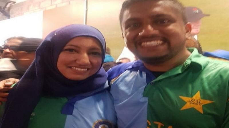 The couple's shared love for themselves, for their nation, as well as for the game is seen in their efforts to create this jersey. (Photo: Lakshmi Kaul/Twitter)