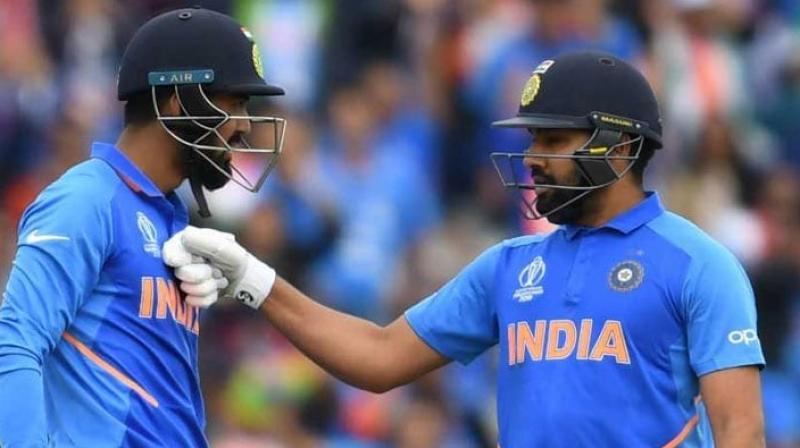 Rohit Sharma is confident that they will slowly be able to build up the right level of communication required in such big event.  In fact against Pakistan, Rohit Sharma allowed KL Rahul to take first strike, which he normally does when Shikhar Dhawan is around. (Photo:AFP)