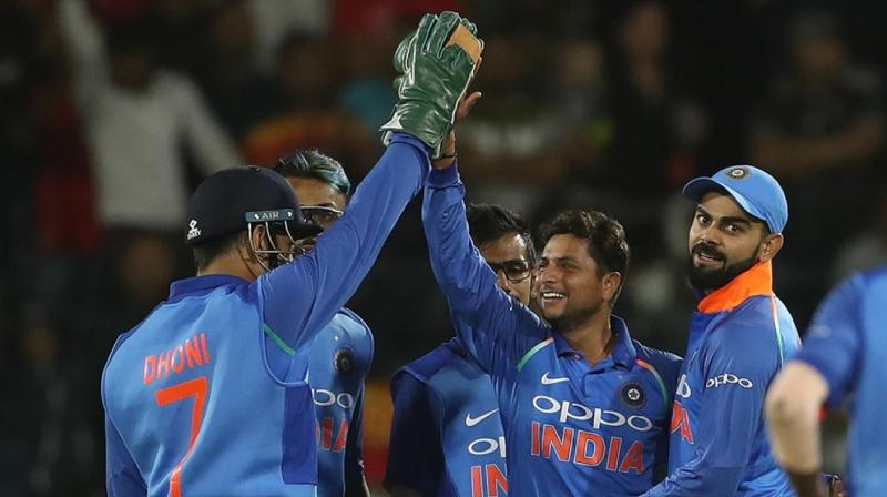 Kuldeep Yadav took four wickets to see India home with a 73-run win over South Africa in the fifth ODI on Tuesday. (Photo: BCCI)