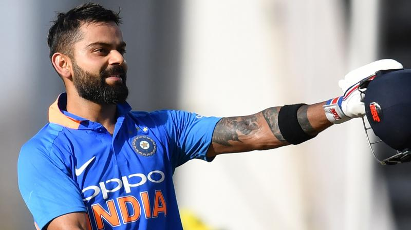Kohli struck another magnificent hundred (123 off 95 balls) against Australia in the third ODI but his teammates could not back him up as India lost the match by 32 runs. (Photo: AFP)