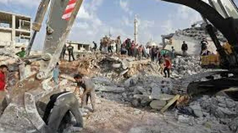 Rescue workers were still searching under the rubble for survivors. (Photo: AFP)