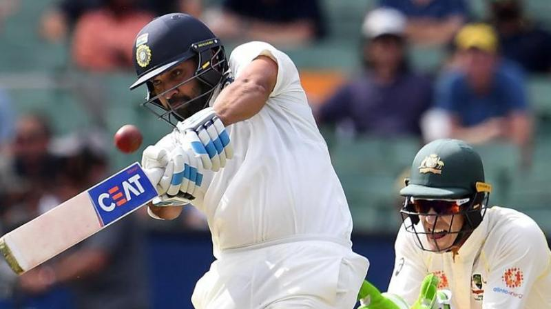 Rohit Sharma will begin a last ditch effort to save his stop-start Test career with a trial run in the unfamiliar opener's slot when he leads the Board President's XI in a three-day warm-up game against South Africa, starting here on Thursday. (Photo:AFP)