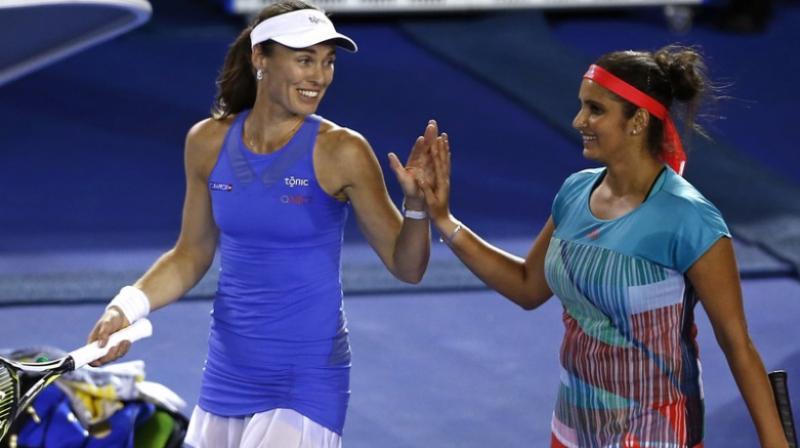 The pair together won three Grand Slams, 11 WTA titles. (Photo: AP)