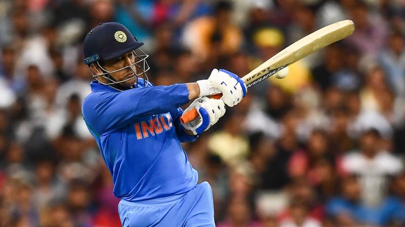 Dhoni and Kedar Jadhav shared a 121-run partnership for the unconquered fourth wicket while chasing a tricky target of 231. (Photo: AFP)