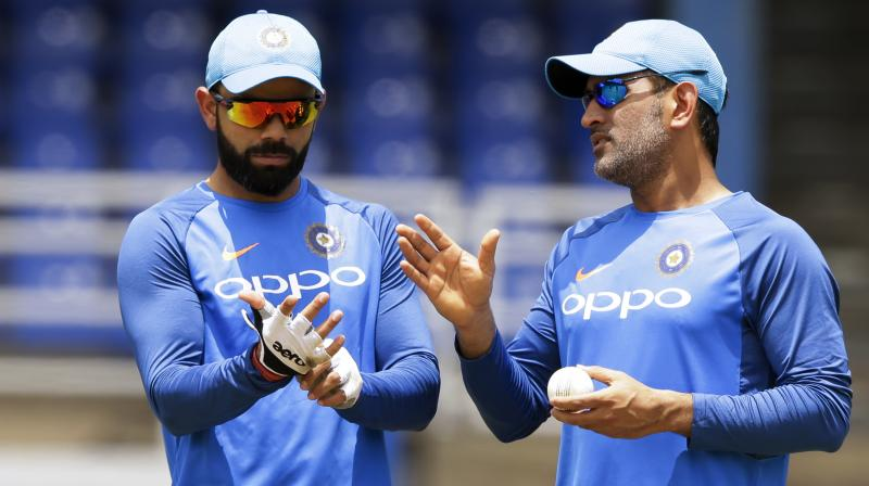 The skipper also reckons that the just-concluded Australia series has proved that number five is the most logical spot for Dhoni. (Photo: AP)