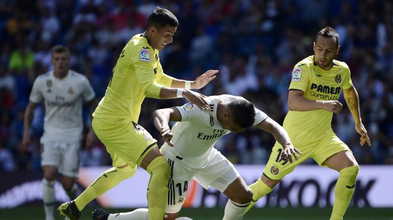Villarreal hit back in the 11th when Gerard Moreno slammed the ball inside the near post from outside the area after Real midfielder Casemiro was dispossessed.