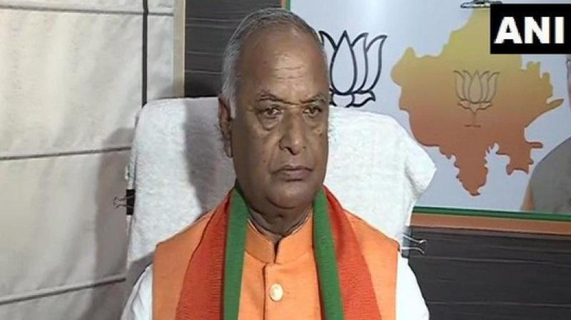 Rajasthan BJP chief Madan Lal Saini passed away at AIIMS. (Photo: ANI)