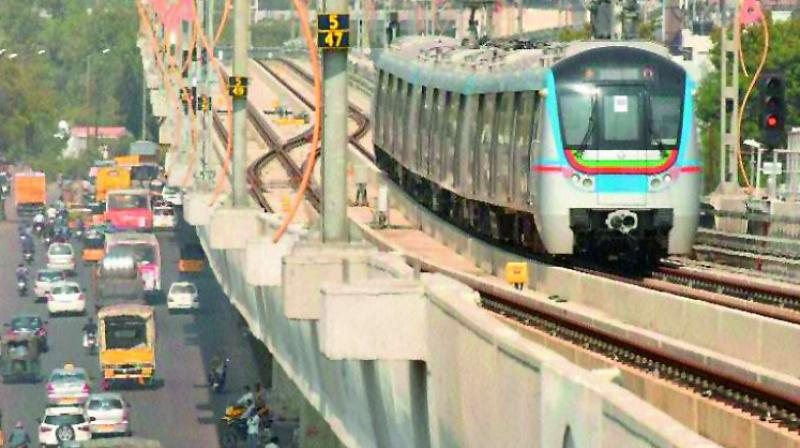 PM Modi flags off Hyderabad Metro Rail