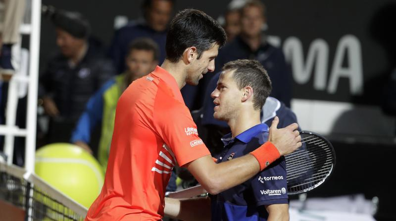 Rome Open Djokovic Goes Past Schwartzman 6 3 6 7 6 3 To Face Nadal In Finals