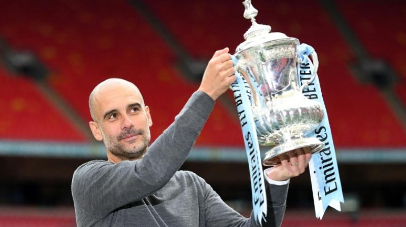 Manchester City claimed a first ever treble of Premier League, FA and League Cups, as well as the Community Shield to take the count of major trophies to 10 in the decade since the club's fortunes were transformed on and off the pitch by Sheikh Mansour, a member of the Abu Dhabi royal family.(Photo: AFP)