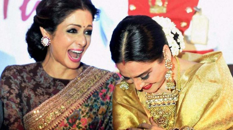 It is quite well known that Rekha had dubbed for the late Sridevi's part in the 1986 Amitabh Bachchan-starrer, Aakhri Raasta.