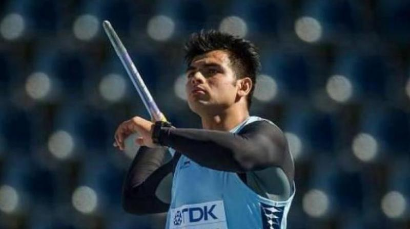 In the qualification round on Thursday, Neeraj cleared 82.26m in his opening throw, 74 centimeters short of the automatic qualification mark. (Photo: AFP)