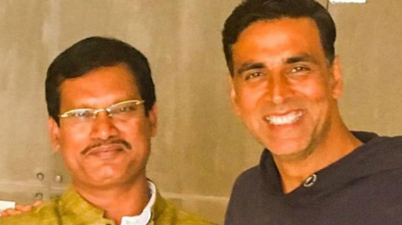 Real Padman with reel Padman.