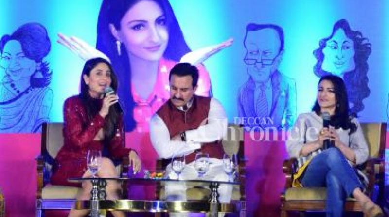 Soha Ali Khan launched her book 'The Perils of Being Moderately Famous'  with her