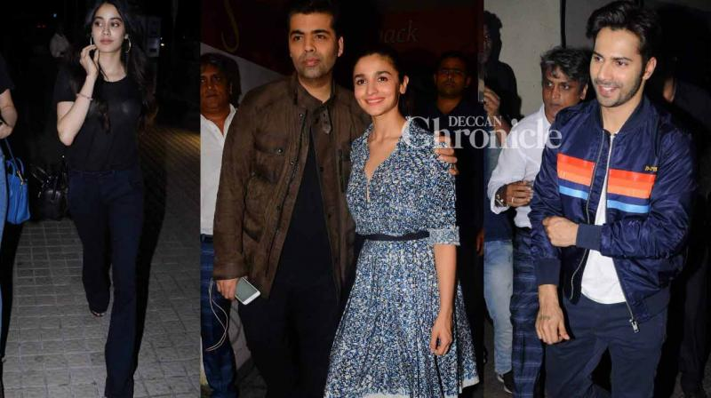 Several celebrities from the film industry were spotted arriving for a screening of the film 'Badrinath Ki Dulhania' on Thursday. (Photo: Viral Bhayani)