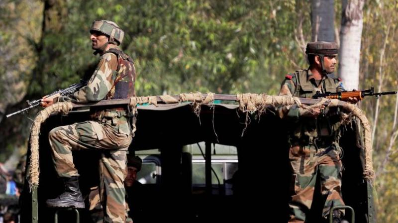 The soldiers who were killed were part of a team on patrol between two forward posts in Udhampur along the Line of Control. (Photo: PTI/File)
