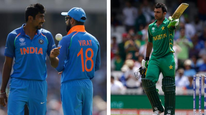 Fakhar Zaman made the most of an early reprieve off Jasprit Bumrah's bowling and slammed his maiden international hundred against Virat Kohli-led India in ICC Champions Trophy final. (Photo: AP)