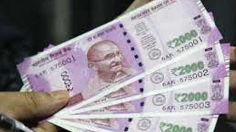 At the Interbank Foreign Exchange, the rupee opened on at 69.33 then fell to 69.38 against the US dollar.