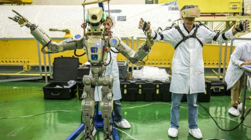 Fedor -- short for Final Experimental Demonstration Object Research -- was Russia's first humanoid robot to be sent into space, though similar technology has been sent by Japan and NASA. (Photo: AFP)