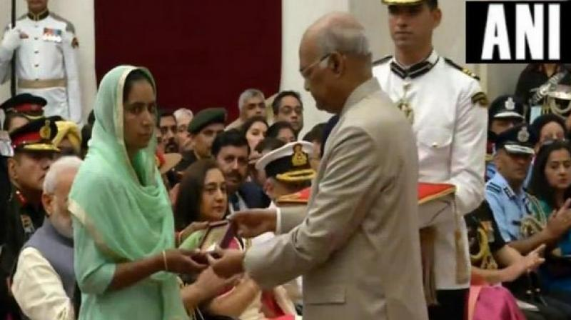 President Ram Nath Kovind presented the award at the Defence Investiture Ceremony held at Rashtrapati Bhavan.  (Image: ANI)