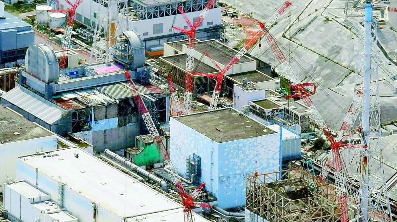 Aerial file photo shows Fukushima Dai-ichi nuclear power plant reactors, from bottom at right, Unit 1, Unit 2 and Unit 3, in Okuma, Fukushima Prefecture, northeastern Japan. (Image: AFP)