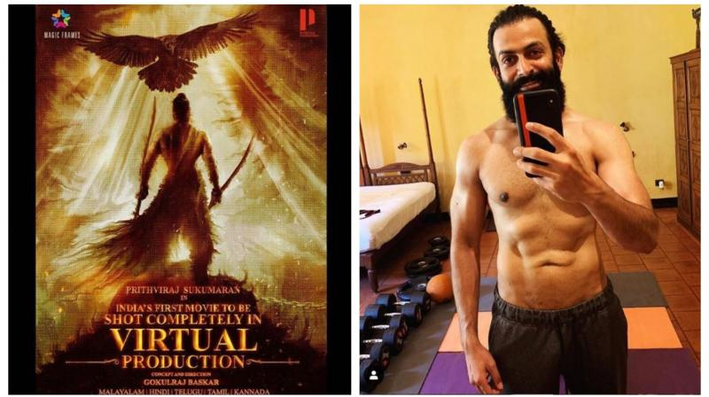 Prithviraj plays a warrior in the film expected to be produced using virtual reality techniques. The popular actor whose stated mission is to transform Malayalam cinema is also a director, producer and distributor of films. (Photos | Instagram - therealprithvi)