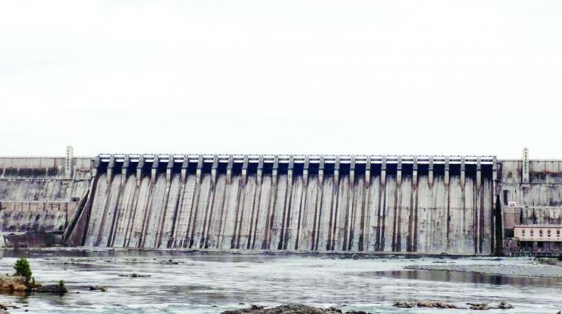View of the Nagarjunasagar dam.