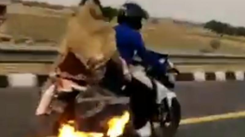 Hot Wheels: UP police chase bike on fire, saves family; video goes viral
