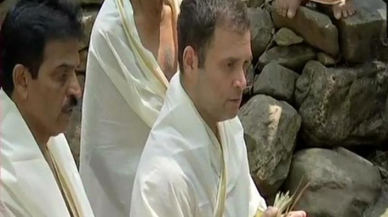 Rahul, who is contesting the ensuing polls from Wayanad parliamentary constituency, was accompanied by Congress General Secretary KC Venugopal, among others. (Photo: ANI | Twitter)