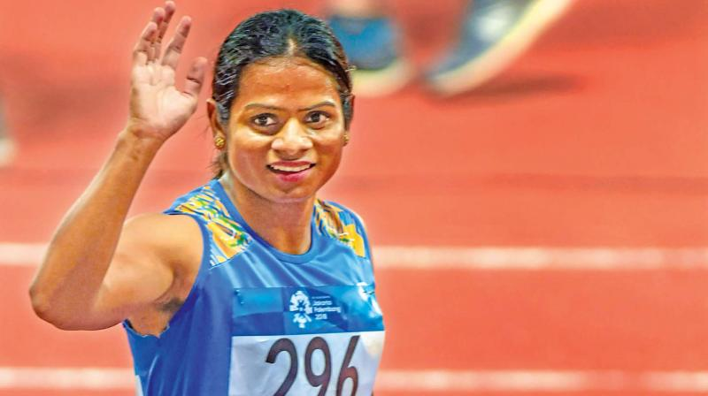 Dutee Chand, the 100m national record holder (11.24 seconds). (Photo: File)