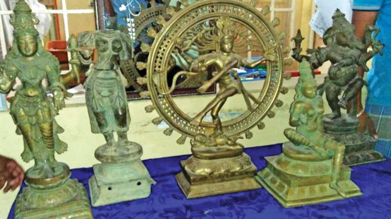 A gigantic idol of Lord Nataraja and Meenadarar was believed to have been sold for a huge sum. (Representational Image)